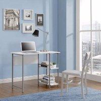 Mainstays 基础金属框架办公桌,多色选
