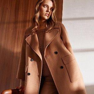 低至5折 双面围巾仅€29Hallhuber 年末大促 职场Lady衣橱必备 双面尼、羊绒衫冬季必备