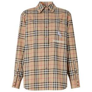 Burberry热门款独角兽格纹衬衫