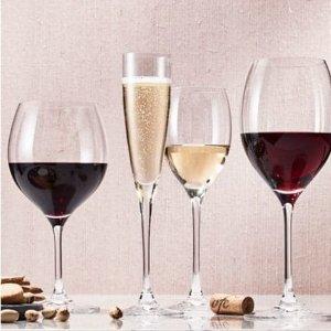 $99.99(原价$400) 特卖2.5折Villeroy & Boch 德国唯宝 Maxima 水晶玻璃酒杯 24件套