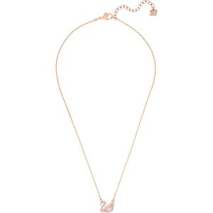SwarovskiDazzling Swan Necklace, Multi-colored, Rose gold plating by SWAROVSKI