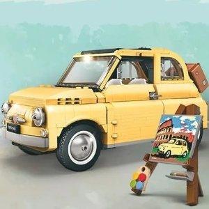 €87.88+包邮 含960个颗粒LEGO乐高 10271 奶黄菲亚特最后15件 感受意大利浪漫风情
