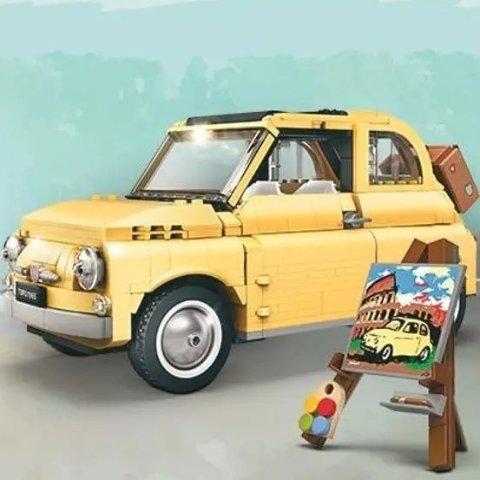 €79.99+包邮 含960个颗粒LEGO乐高 10271 奶黄菲亚特最后15件 感受意大利浪漫风情