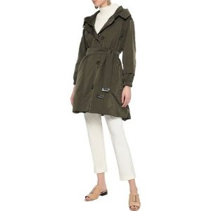 Max MaraFaillep reversible belted shell hooded parka