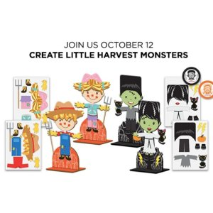 Free! Create Little Harvest MonstersJCPenney Kids Zone Activity on September 14th, 2019