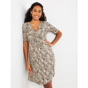 MotherhoodKnot Front Maternity Dress