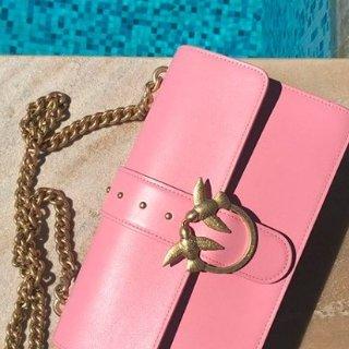 抢券到手¥1199(原价¥2575)Pinko LOVE BAG 纯色链条燕子包 多色可选