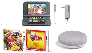 $189.99+FREE Google Home MiniNew Nintendo 3DS XL Handheld System Super Smash Bros and Zelda Ocarina Bundle