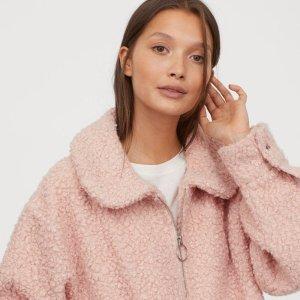 £39收封面款粉色泰迪熊大衣上新:H&M 泰迪熊大衣、羊绒大衣专场 保暖又穿出潮流范