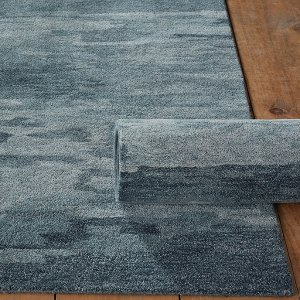 Carbonne Hand Tufted Blue Wool Area Rug