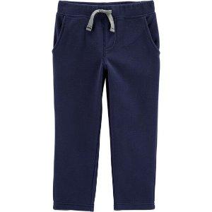 Carter's100%全棉 藏青色法式毛圈裤