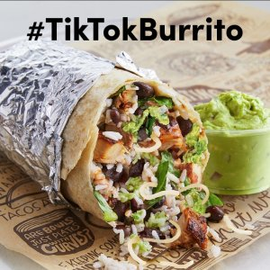 Most RTd Vids Get Burritos One YearTweet a Chipotle TikTok Get the GuacCheck Burrito for Free
