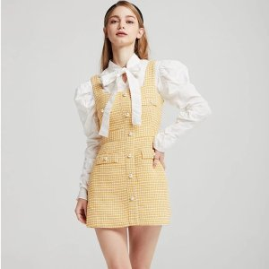 StoretsClaire Tweed Pinafore Dress