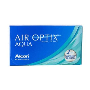 Air optix高透氧镜片Aqua 透明月抛6片装