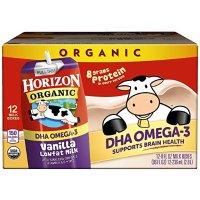 Horizon Organic 香草味低脂有机奶 8oz 12盒