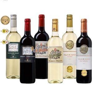 6.4折 €34.99(原价€54.99)西班牙获奖葡萄酒6支装 将西班牙的阳光带入家中