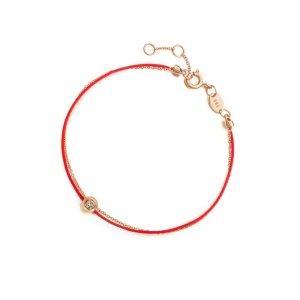 钻石18k金小红绳