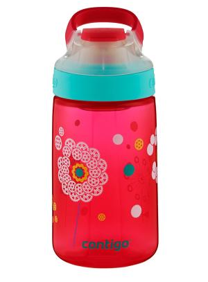$8Contigo AUTOSEAL Gizmo Sip Kids Water Bottle, 14 oz, Thistle Petals