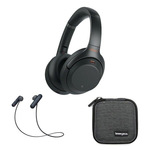 WH-1000XM3 降噪耳机 黑色 + WI-SP500 无线运动耳机 黑色