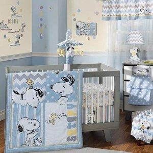 $19.98(原价$27.39)史低价:Lambs & Ivy 史努比儿童午睡床品套装