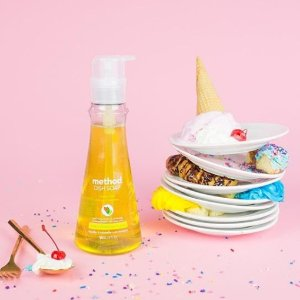 低至8折 $4.74起 风靡美国网红品牌最后一天:Method 糖果系洗洁精 家居清洁系列 天然洁净无残留 不伤你的小手手