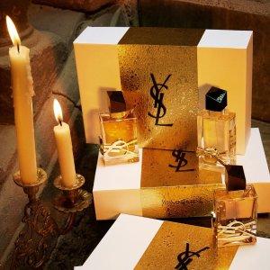 直接8折+满额赠镜面唇釉YSL 圣诞礼盒装上线 黑鸦片、反转巴黎、方管、小金条等全有