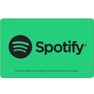 $49.98Spotify Gift Card $30/$60