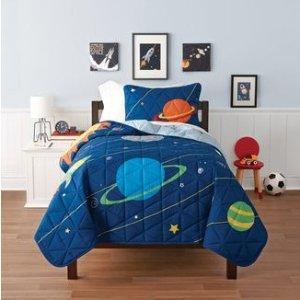 $25收床品3件套!Walmart 儿童床品套装清仓 在睡梦中遨游宇宙