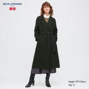 UniqloWOMEN WOOL-BLEND DOUBLE-FACED COAT (INES DE LA FRESSANGE)