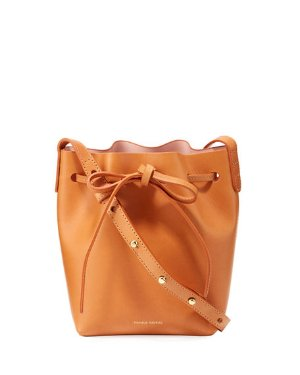 Mansur Gavriel Vegetable-Tanned Leather Mini Mini Bucket Bag | Neiman Marcus