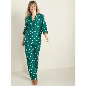 Old NavyPatterned Flannel Pajama Set for Women