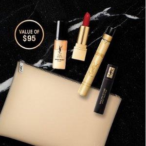 送封面5件套(价值$95)最后一天:YSL Beauty 皮革气垫告别脱皮卡粉、夜皇后精华拯救暗沉
