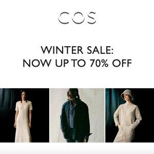 3折起+额外9折折扣升级:COS 冬季大促 收爆款针织开衫、极简风毛衣