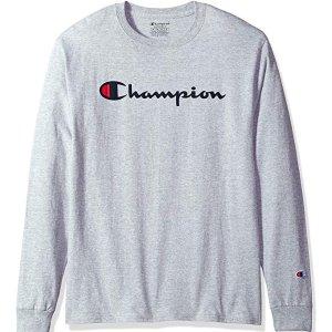 $16.49($22.00)+Free Shipping Champion Men's Classic Jersey Long Sleeve Script T-Shirt