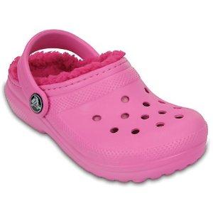 Crocs第二双享5折儿童经典绒里洞洞鞋