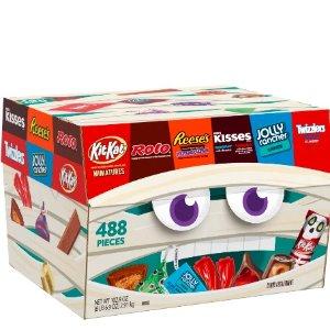 近期好价$29.9Hershey 万圣节混合巧克力糖果 488 块装