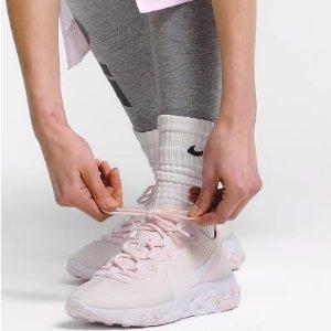均$180起 收封面粉嫩配色款Nike React Element 55 超火高桥盾女子跑鞋