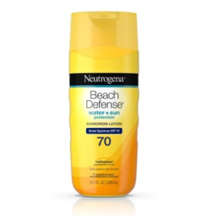 $8.97Neutrogena Beach Defense Body Sunscreen Lotion with SPF 70, 6.7 oz