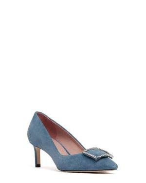 OLGA - CRYSTAL EMBELLISHED POINTED PUMPS | HEELS | All Shoes | Pedder Red