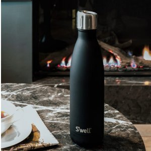 swellBlack Insulated Stainless Steel Water Bottle | S'well