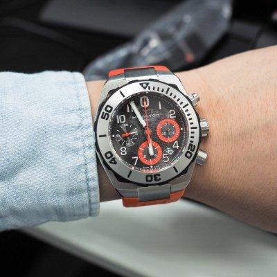 Hamilton Men S Khaki Navy Sub Auto Chrono Watch H78716983
