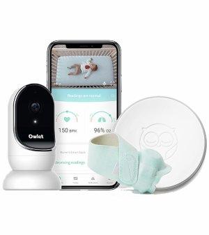 立减$100+无税 $199起比黒五低:Owlet 智能婴幼儿监视系统特卖 可追踪心率和氧气水平