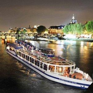双人套餐线上6折+首单立享额外8折巴黎塞纳河观光游船 浪漫夜晚与爱人共赏巴黎美景