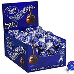 $19.05 节庆佳礼Lindt LINDOR 黑松露巧克力 25.4 oz, 60粒