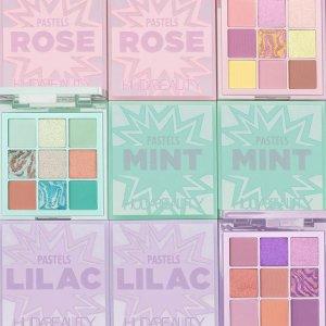低至4折HUDA BEAUTY 精选彩妆大促 收薄荷绿眼影盘、沙漠玫瑰盘