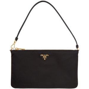 $595收封面款 官网断货Prada logo尼龙爆款腋下包 全球最时髦的人都爱这款包