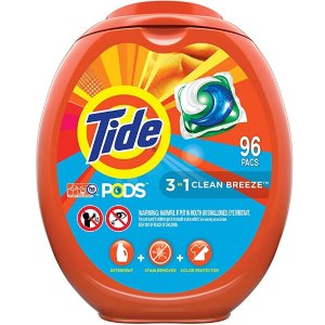 Tide PODS 三效合一果冻洗衣凝珠 96颗
