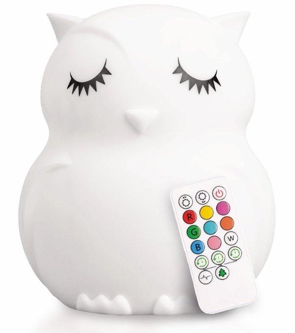 LumieWorld LumiPets 猫头鹰硅胶小夜灯