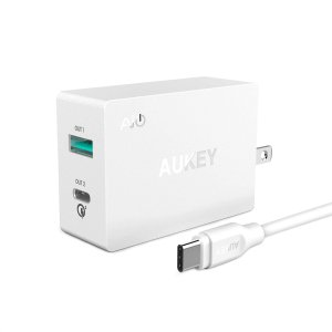 AUKEY 27W QC 3.0 USB C Wall Charger