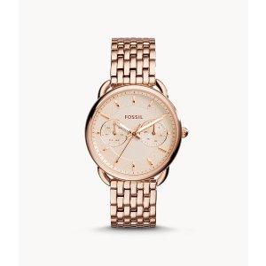 Fossil女士玫瑰金腕表